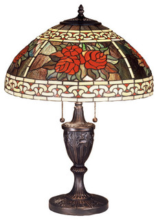 25 roses and scrolls table lamp traditional table lamps by. Black Bedroom Furniture Sets. Home Design Ideas