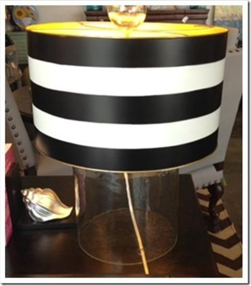 Striped shade lamps austin contemporary table lamps for Lamp shades austin