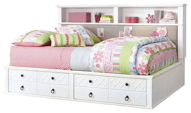 Ashley Iseydona Twin Bookcase Bed With Storage Footboard