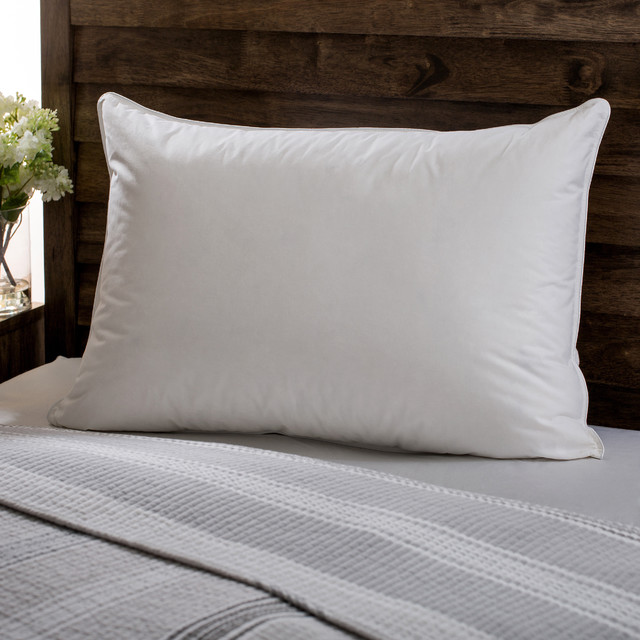 Modern Bedroom Pillows : European Heritage Down Opulence Hypoallergenic Firm White Goose Down Pillow - Contemporary - Bed ...