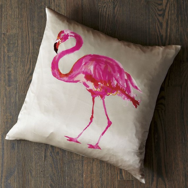 flamingo pillow cover tropical decorative pillows by. Black Bedroom Furniture Sets. Home Design Ideas