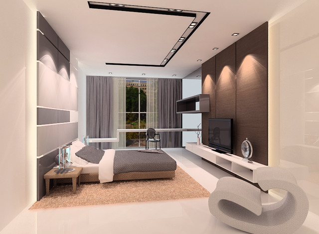 Proposal for emily contemporary bedroom other by senihomes - Deco de chambre parentale ...
