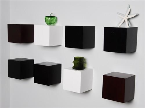 3pcs 6 Quot Wood Block Wall Cube Shelves Modern Los