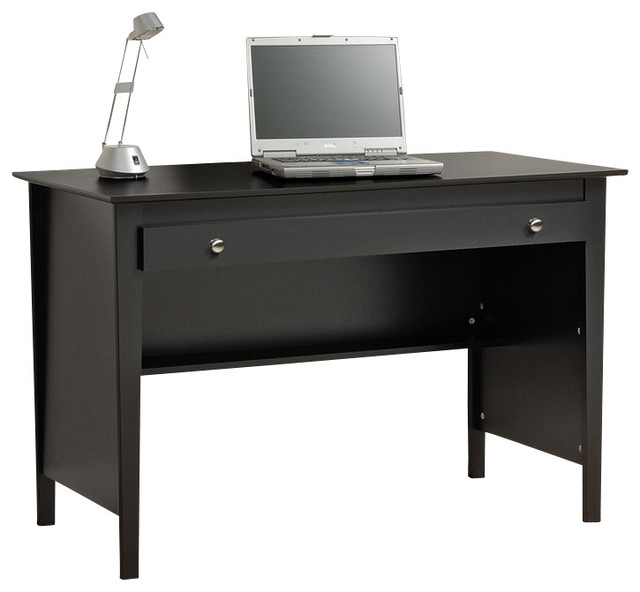 Prepac Sonoma Black Contemporary Computer Desk & Wall ...