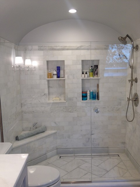 Classic inspired master bathroom for Classic master bathrooms