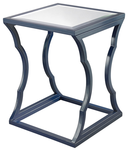 metal cloud side table navy blue contemporary side tables and end tables. Black Bedroom Furniture Sets. Home Design Ideas