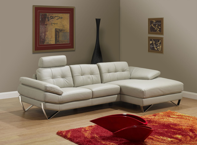 Dallas Light Grey Right Sectional Sofa Modern