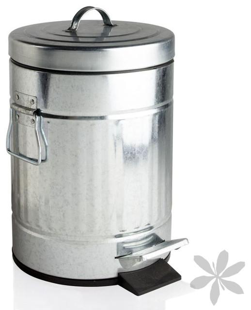 Cubo de basura galvanizado retro industrial cubos de - Cubos de basura industriales ...