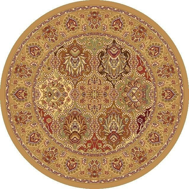 """Traditional New Vision Round 5'3"""" Round Panel Berber Area"""