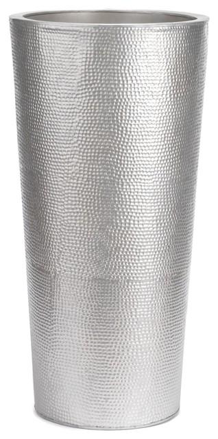 andy cache pot conique en m tal galvanis h75cm contemporain pot et jardini re d 39 ext rieur. Black Bedroom Furniture Sets. Home Design Ideas