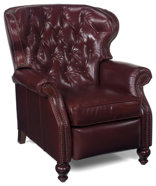 Chair Wood Leather No Nailhead Trim Traditional