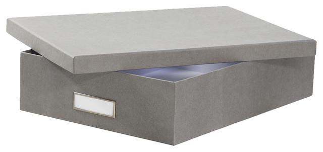 boite a4 en carton gris flanelle moderne bac et bo te de rangement autres p rim tres par. Black Bedroom Furniture Sets. Home Design Ideas