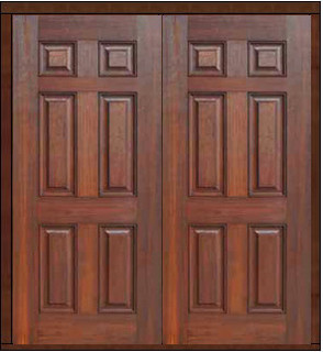 Prehung Exterior Double Door 80 Fiberglass 6 Panel Solid Rustic Front Doors Tampa By Us