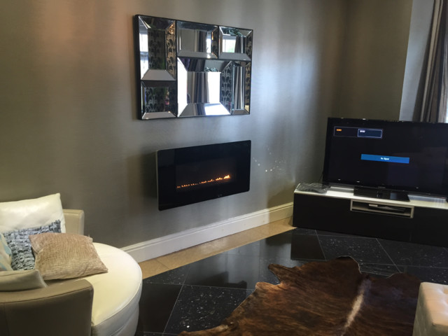 Flueless fire contemporary fireplaces by for Garden rooms rocal