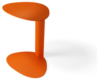 BDI Bink Mobile Media Table, Tangerine - Contemporary ...