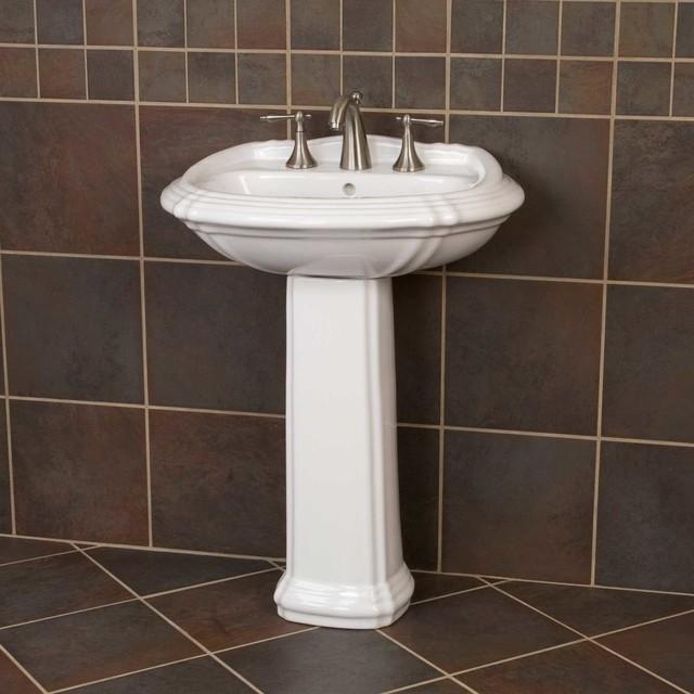 Large Pedestal Sink : Large Regent Pedestal Sink - Traditional - Bathroom Sinks