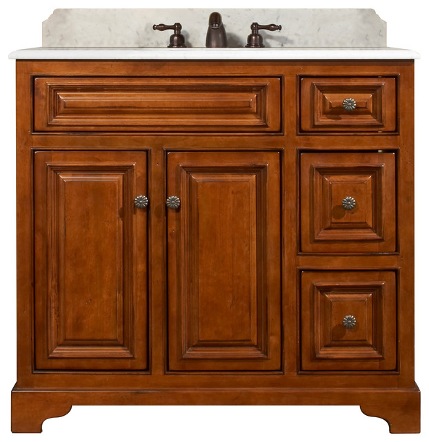Cambrian Assembled Vanity Craftsman Bathroom Vanities And Sink Consoles By Sunny Wood Products