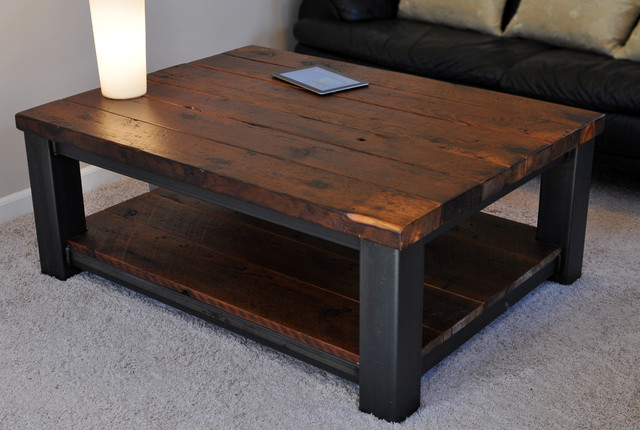 Rustic refinery rustic coffee tables other by rustic refinery Dark wood coffee tables