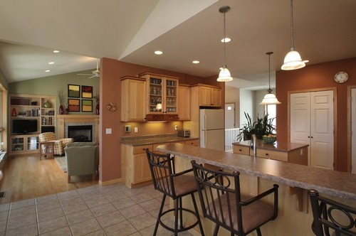 Kitchen Dining Room Floor Transition Dream Apartment Layout Three Story Home Plans At