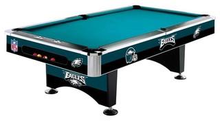 Philadelphia Eagles Nfl 8 Pool Table Modern Furniture By Man Cave Kingdom