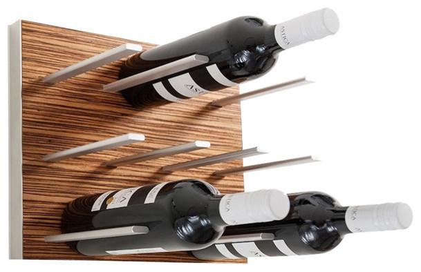Modular Wine Rack Zebrano Size Single Contemporary