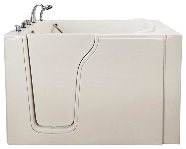 Bariatric 33 soaking walk in bathtub in white with left for Bariatric bathroom design