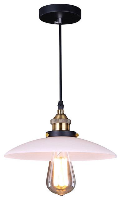 Industrial Style Pendant With Dish Like Shade Industrial