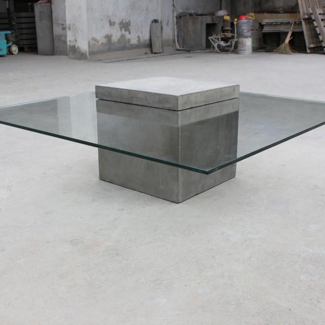 Monobloc Glass And Concrete Coffee Table