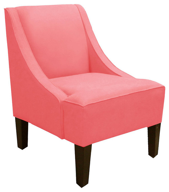 Fletcher Swoop Arm Chair Coral Contemporary Armchairs And