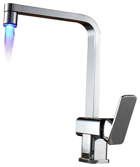 Led Waterfall Contemporary Kitchen Sink Faucet Contemporary Kitchen Faucets By Sumerain
