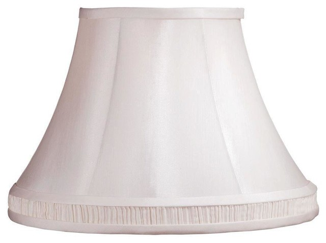 Laura Ashley Lamp Shades Amberley 14 in. White Bell Shade SLL334 contemporary-lamp-shades