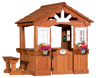 backyard discovery scenic cedar wood playhouse traditional outdoor