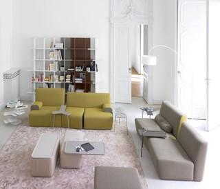 ligne roset living spaces contemporary living room. Black Bedroom Furniture Sets. Home Design Ideas