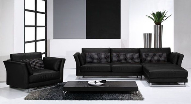 High End Full Italian Leather Sectionals