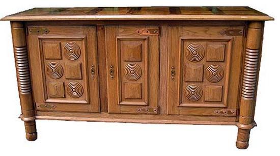 Modern oak sideboard with copper accents buffet e - Mobili buffet moderni ...