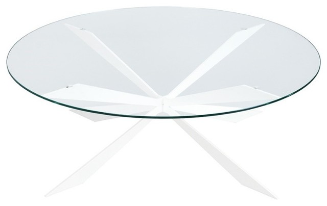 Round glass coffee table by auzier contemporary coffee tables