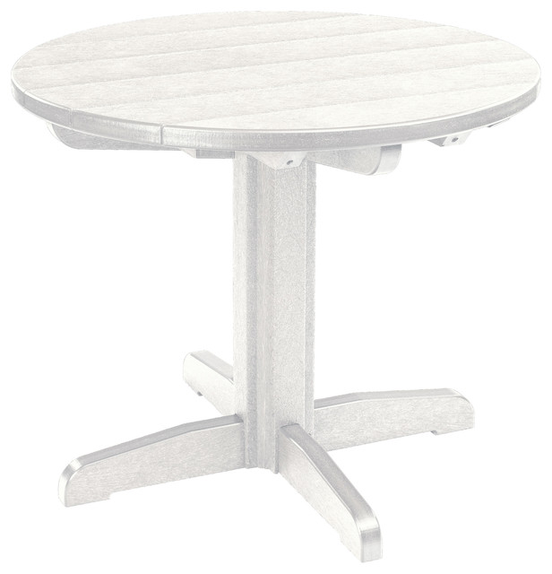 Generations Dining 25quot Height Pedestal Table Base White  : transitional table tops and bases from www.houzz.com size 616 x 640 jpeg 41kB