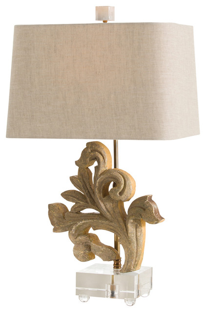picardi hand carved solid wood fragment acrylic lamp transitional table lamps by bliss. Black Bedroom Furniture Sets. Home Design Ideas