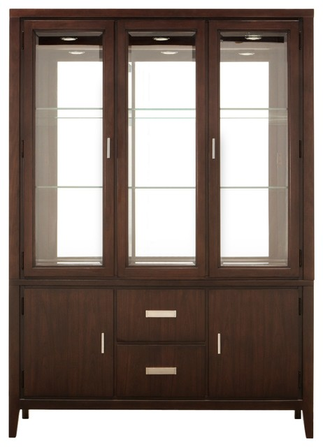 Kian 2-pc. China Cabinet w/ Lighting contemporary-china-cabinets-and ...