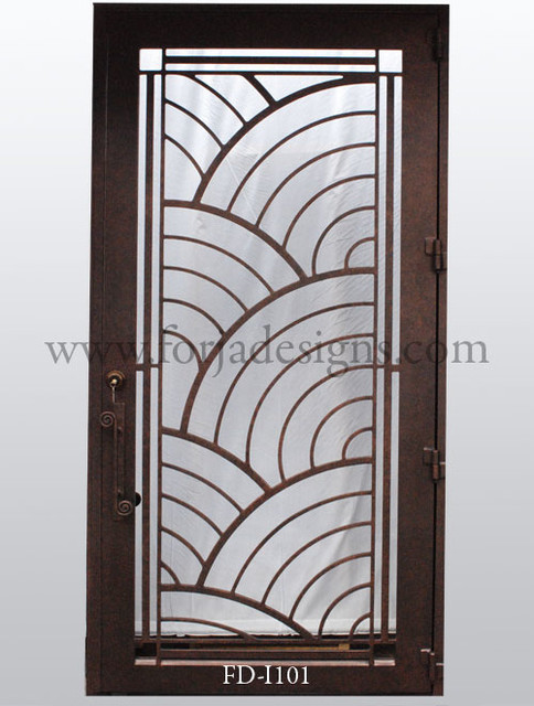 Contemporary Steel door - Modern - Windows And Doors - houston - by Forja Designs