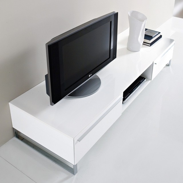 Life-CG180 White High-Gloss Lacquer TV Stand - Modern - Entertainment Centers And Tv Stands ...