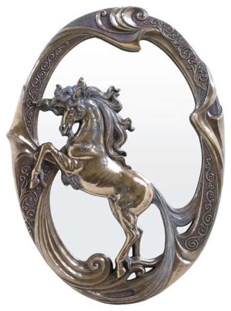 15 Inch Figure Victorian Unicorn Frame Wall Mirror Display Decor Gift - Traditional - Mirrors ...