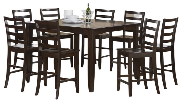 Piece Counter Height Set- Square Table And 8 Counter Height Chairs ...