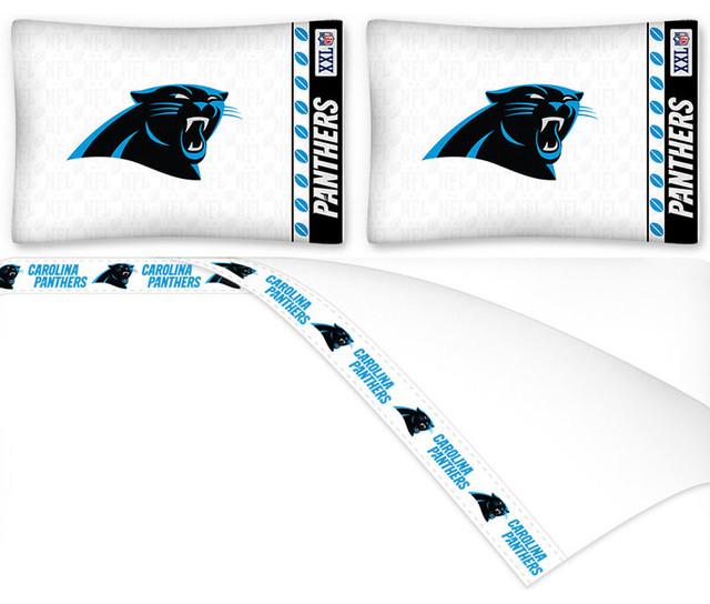 Nfl Carolina Panthers Football Full Bed Sheet Set