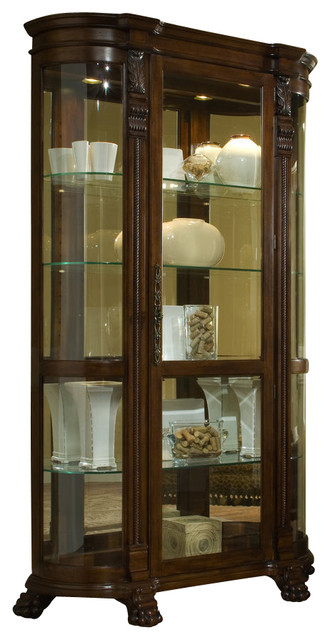 Pulaski Foxcroft Curved End Curio - Contemporary - China Cabinets And ...
