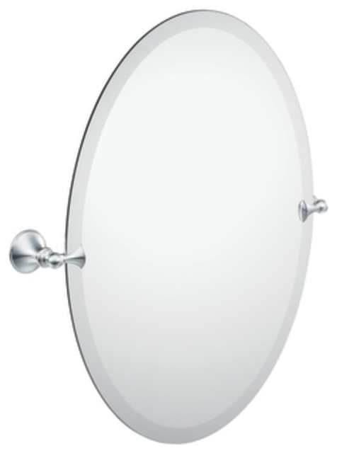 moen dn2692ch glenshire oval tilting bath mirror with