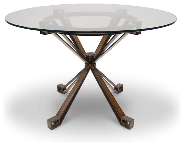 Denver Metal Dining Table Base Only Transitional