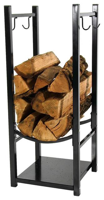 Indoor Outdoor Fireside Log Rack With Tool Holders