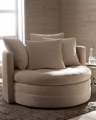 Quot Griffith Quot Cuddle Chair Traditional Armchairs And