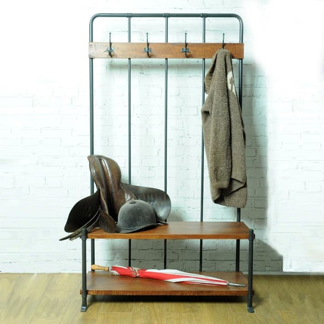 Old school hallway stand industriel meuble d 39 entr e par loop the loop - Meuble d entree industriel ...